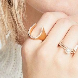 Kate Spade New York Wild Ones Pave Horseshoe Ring
